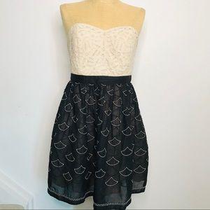 Anthro Meadow Rue Battenburg & Organdy Dress